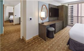 2 bedroom suite with living room