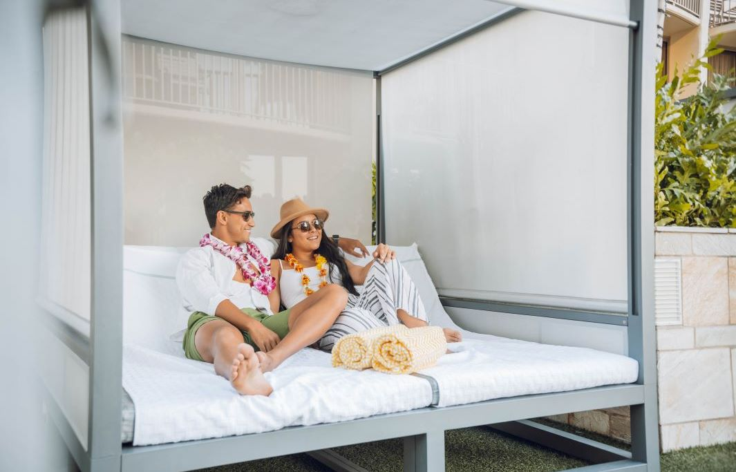 Relaxing Cabanas and Daybeds