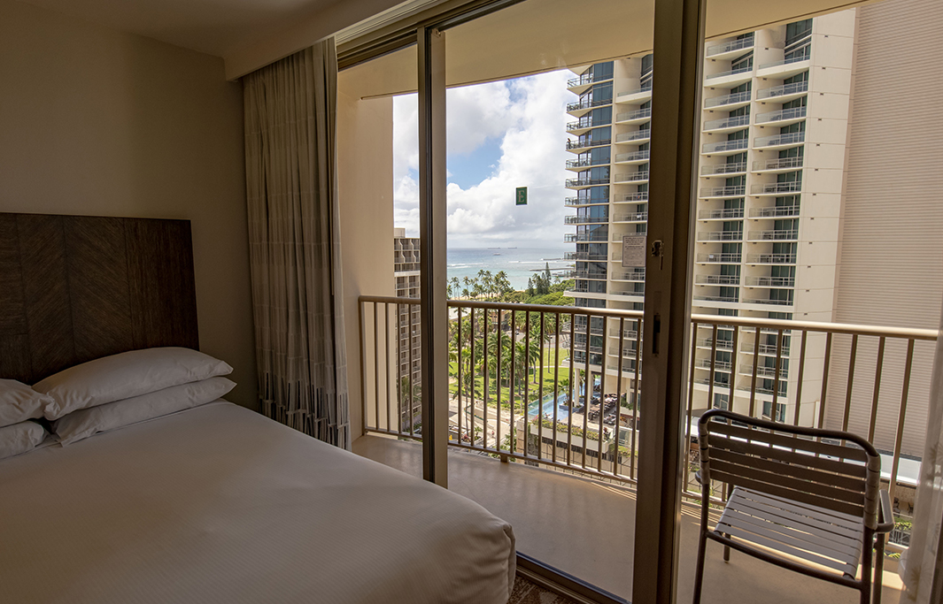 Partial Ocean View At Honolulu, Hawaii Hotel