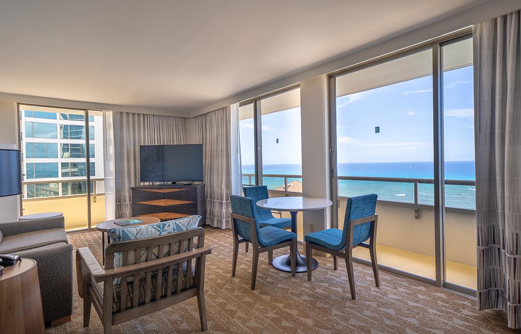 Corner Premium View In Honolulu Hawaii Hotel