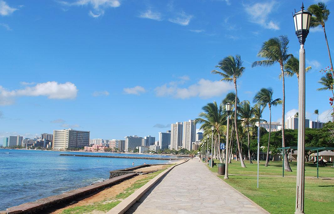 Kapiolani Park Beach of Honolulu, Hawaii Hotel